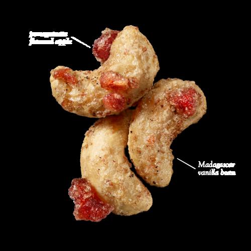 Naturally Pomegranate Vanilla Flavored CashewsGlazed Mix