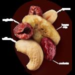 Raspberry Crumble Cashew Trail Mix