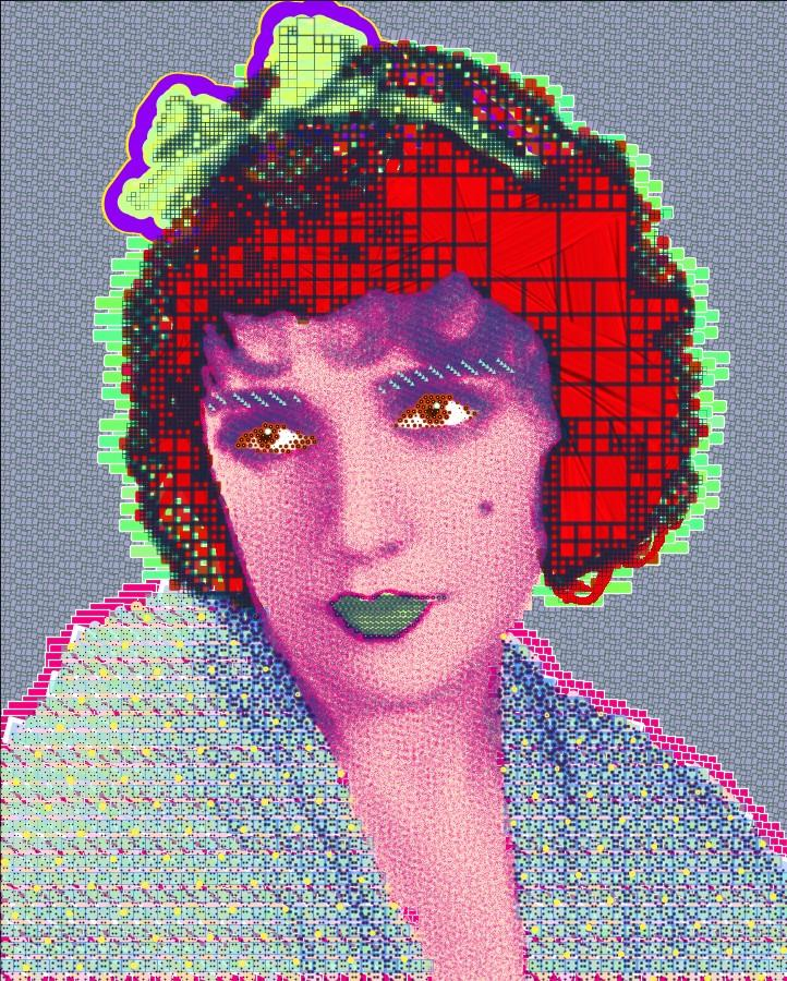 Matt Kane digital painting - Portrait of Bebe Daniels