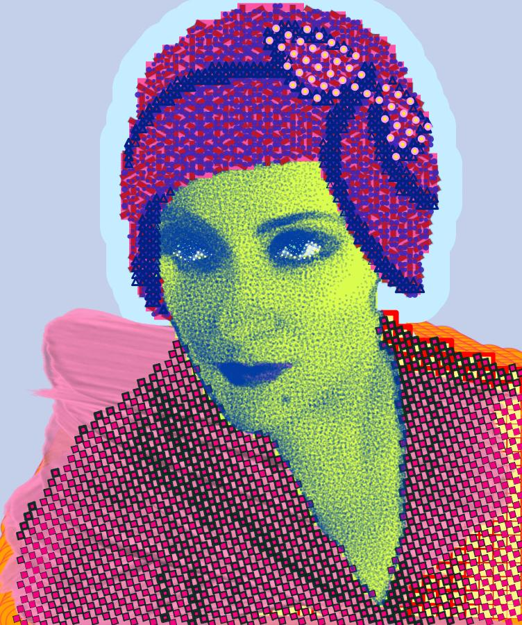 Matt Kane digital painting - Gloria Swanson