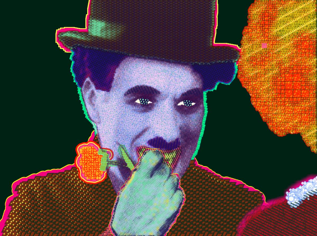 Matt Kane digital painting - How 'bout now? (Portrait of Charlie Chaplin)