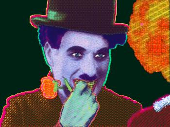 How 'bout now? (Portrait of Charlie Chaplin) by Matt Kane