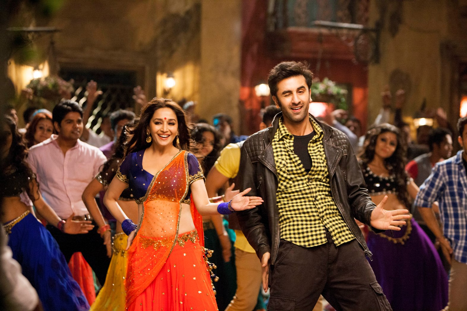 A still from the song 'Ghagra'