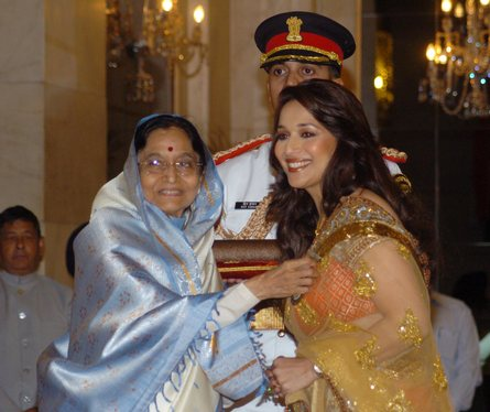 Receiving Padma Shri from The Government of India in 2008