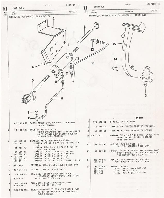 international 1066 wiring diagram ih 1066 parts diagram 56/66 series clutch booster question - general ih - red ... #7