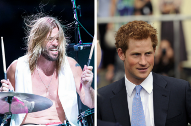 Taylor Hawkins and Prince Harry