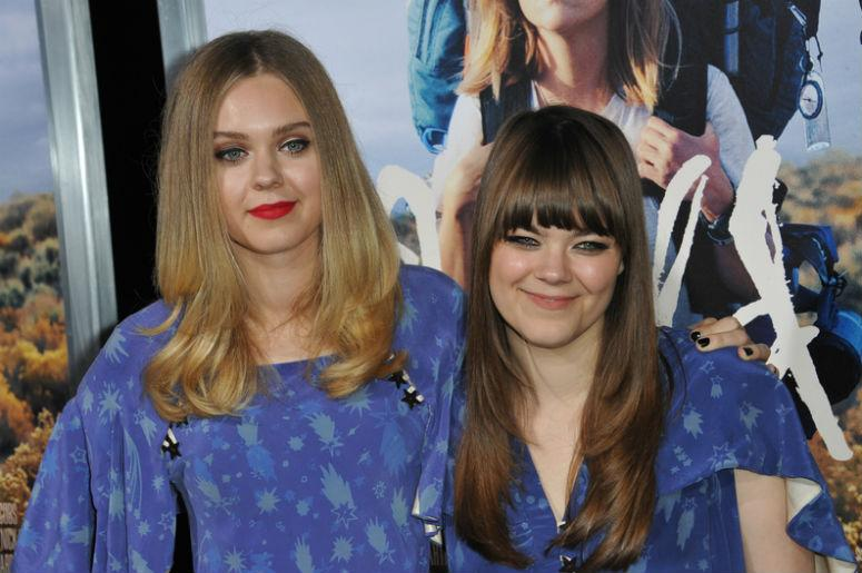 LOS ANGELES, CA - NOVEMBER 19, 2014: Swedish folk duo First Aid Kit - Johanna & Klara Soderberg - at the Los Angeles premiere of Wild at the Samuel Goldwyn Theatre, Beverly Hills.