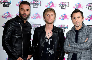 Muse (Matt Bellamy, Chris Wolstenholme and Dominic Howard) arriving for the VO5 NME Awards 2018 held at the O2 Brixton Academy, London.