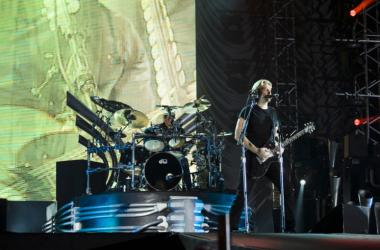 Nickelback band performing live at the Gulf Bike Festival