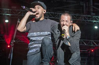 Mike Shinoda and Chester Bennington