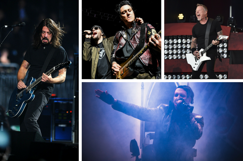 Foo Fighters, Metallica, Avenged Sevenfold, Marilyn Manson