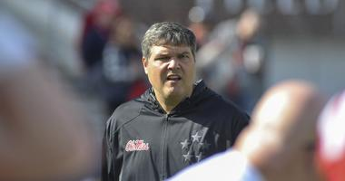 Mississippi Rebels head coach Matt Luke before the game against the Louisiana-Lafayette Ragin Cajuns at Vaught-Hemingway Stadium.