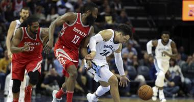 Grizzlies Lose 4th Straight, Fall to Rockets 105-83