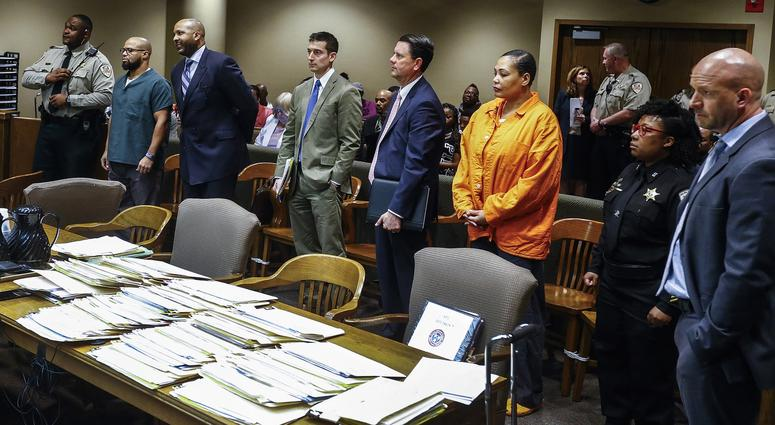 Billy Ray Turner and Sherra Wright make an appearance in Judge Lee Coffee's courtroom for a bond hearing appearance Thursday morning. The bond hearing for Wright and Turner has been rescheduled for May 4.