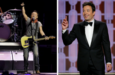 Bruce Springsteen and Jimmy Fallon