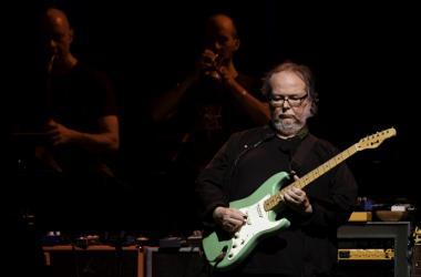 Steely Dan guitarist Walter Becker performs at the Perfect Vodka Amphitheater.