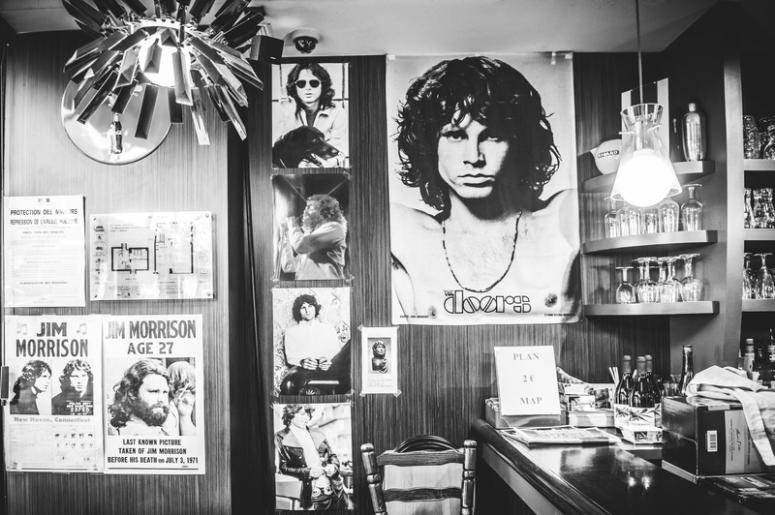 Le Pere Lachaise cafe interior in Paris. Singer Jim Morrison used to visit this cafe  sc 1 st  103.7 KEYN & WATCH: The Doors Re-Release \
