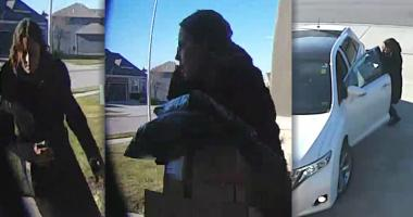 Police seeking porch thief targeting KC Northland stoops
