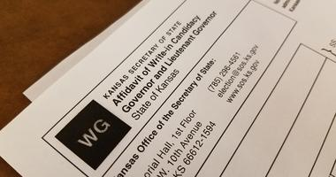 Forms used to nominate a write-in candidate for Kansas Governor