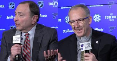 NHL commissioner Gary Bettman, SEC commissioner Greg Sankey