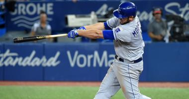 Moustakas breaks Royals' HR record in 15-5 rout of Jays