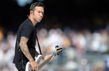 Pete Wentz of Fall Out Boy performs before the All Star Game home run derby at PetCo Park.