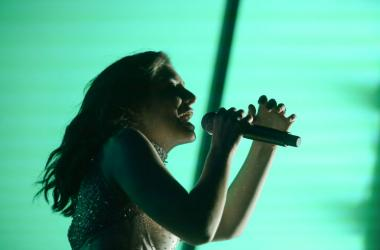 Lorde performs on Coachella Stage during the Coachella Valley Music and Arts Festival at Empire Polo Club