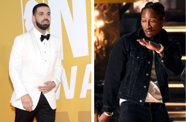 Drake attends the 2017 NBA Awards at Pier 36 in New York, NY, on June 26, 2017 / Future performs at the 2017 BET Awards on June 25, 2017 in Los Angeles, California.