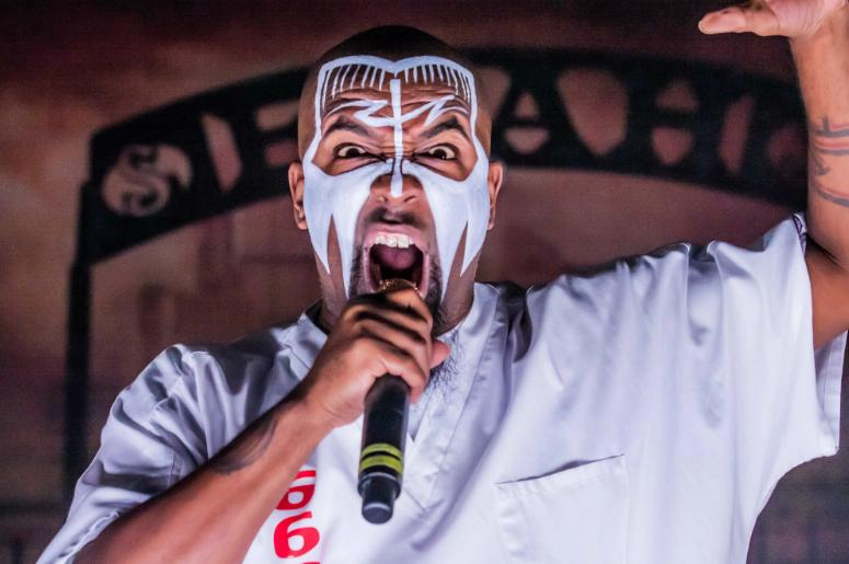 Rapper and producer Aaron Dontez Yates, or Tech N9ne, performs during his Something Else Tour at The Fillmore.