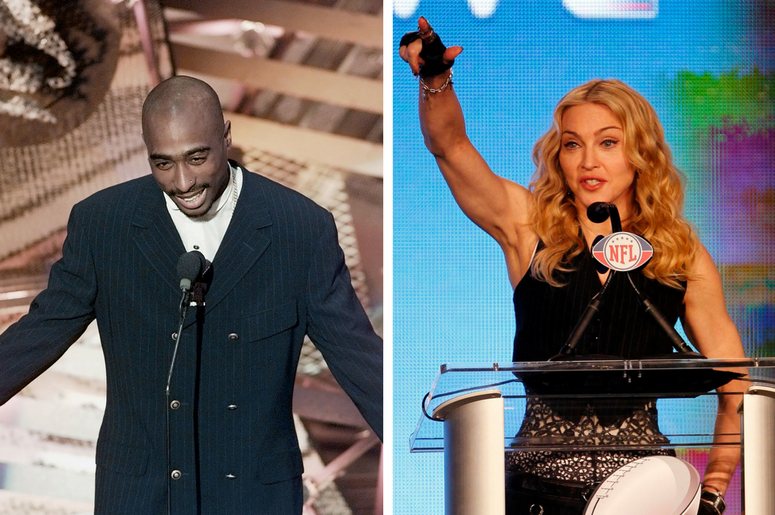 Late rapper Tupac Shakur and iconic singer Madonna