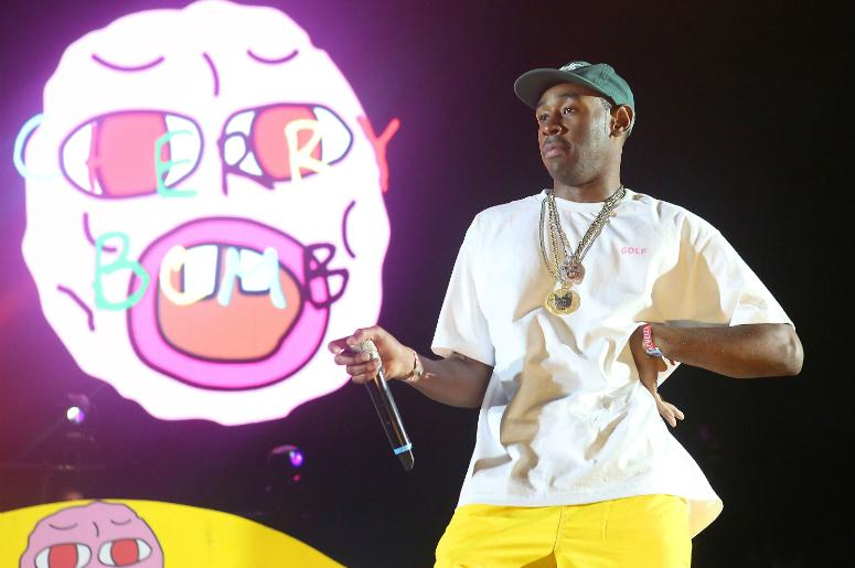 Tyler the Creator performs during the Coachella Valley Music and Arts Festival at Empire Polo Club.