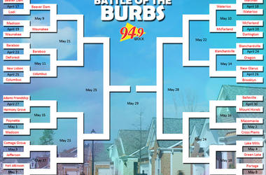 LISTEN:  Cottage Grove VS Sun Prairie in our Battle of the Burbs Trivia ELITE EIGHT
