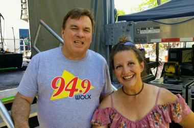 McGaw in the Morning, Jim and Teri, backstage at AtwoodFest, 2017