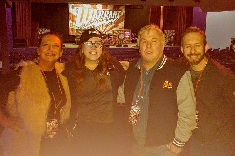 WOLX Night at WARRANT with Teri, Natalie from Crystal Grand, Jim, and Jesse