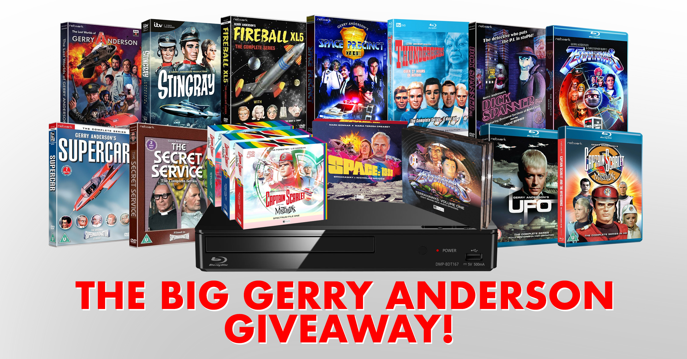 Win the COMPLETE Gerry Anderson Collection Plus a Blu-ray