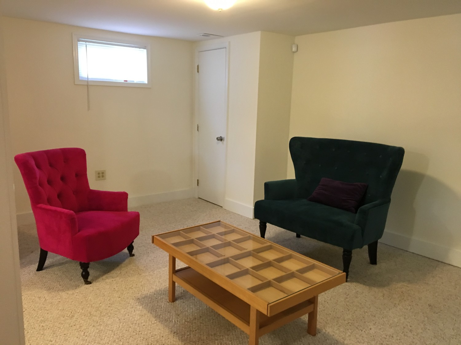 700 sq. ft. bedroom in English style basement for a single student