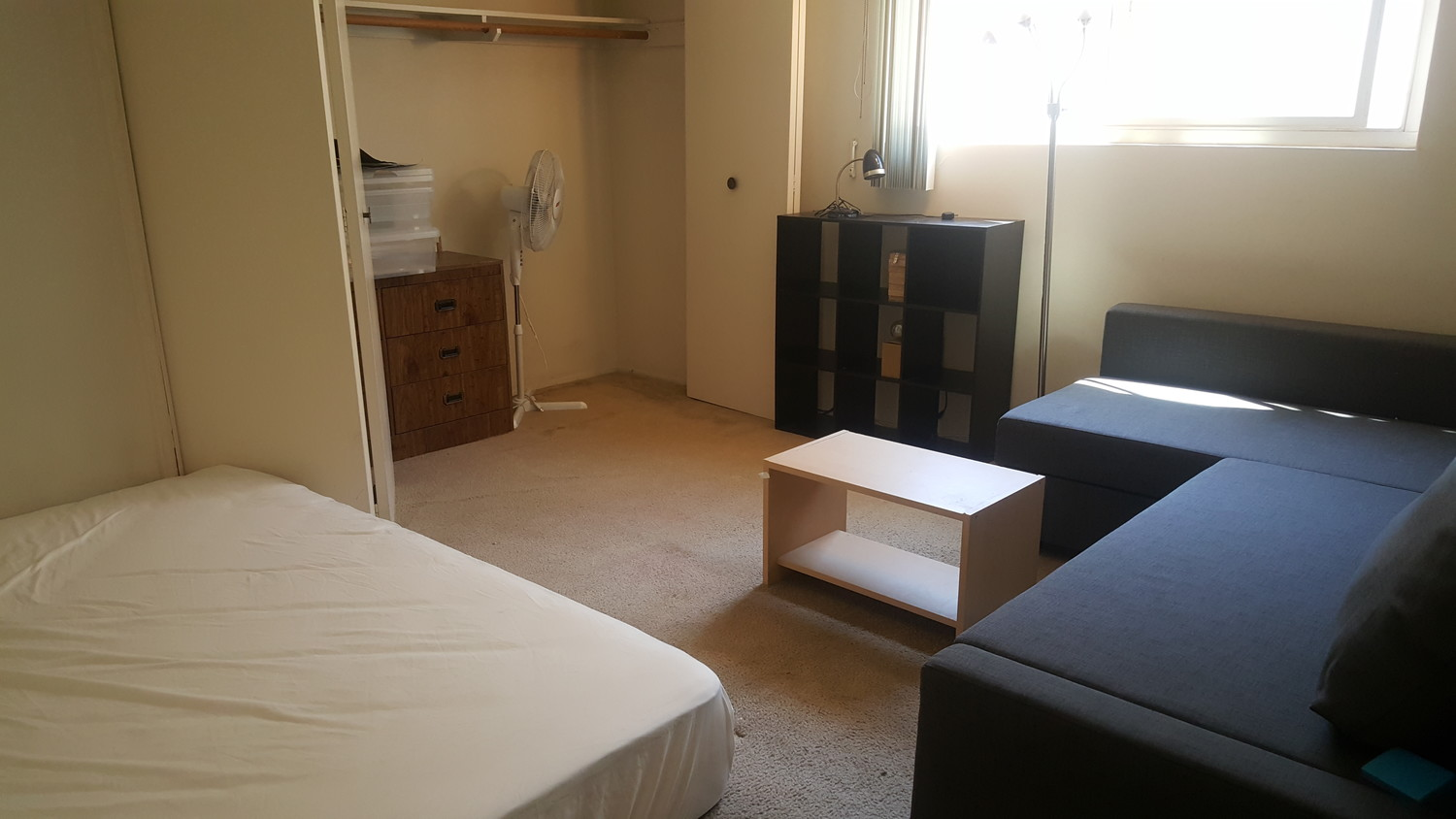 Furnished large closet room with own shower room.
