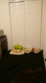 EFFICIENCY FOR RENT WITH PRIVATE BATHROOM AND VERY SIMPLE, BASIC KITCHENETTE