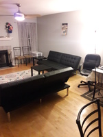 1 large bedroom/1 large den apartment