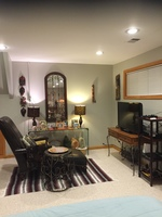 Large furnished room with private bathroom