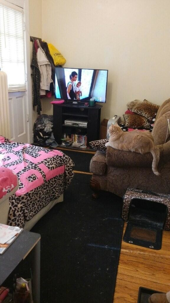 Furnished bedroom near Heartley University