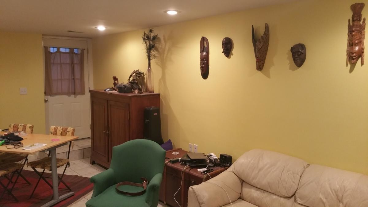 Large furnished English basement in private home