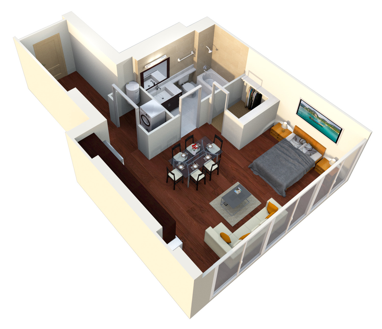 Verde Pointe - Tower -  Studio - Apartment #306B - Pine