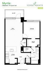 Verde Pointe - Tower -  1 bedroom - Apartment 613B - Myrtle - 741 sq. ft.