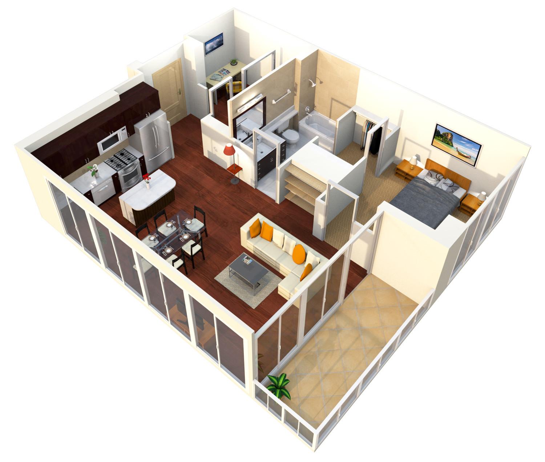 Verde Pointe - Tower -  1 bedroom+Den - Apartment 516B - Mint - 817 sq. ft.