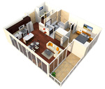 Verde Pointe - Tower -  1 bedroom+Den - Apartment 216B - Mint - 817 sq. ft.