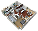 Verde Pointe - Tower -  2 bedroom - Flat 1009B - Jade - 1,080 sq. ft.
