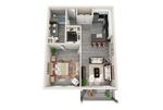 Luxury 1 Bedroom 1 Bathroom Apartment For Rent (720sqft)