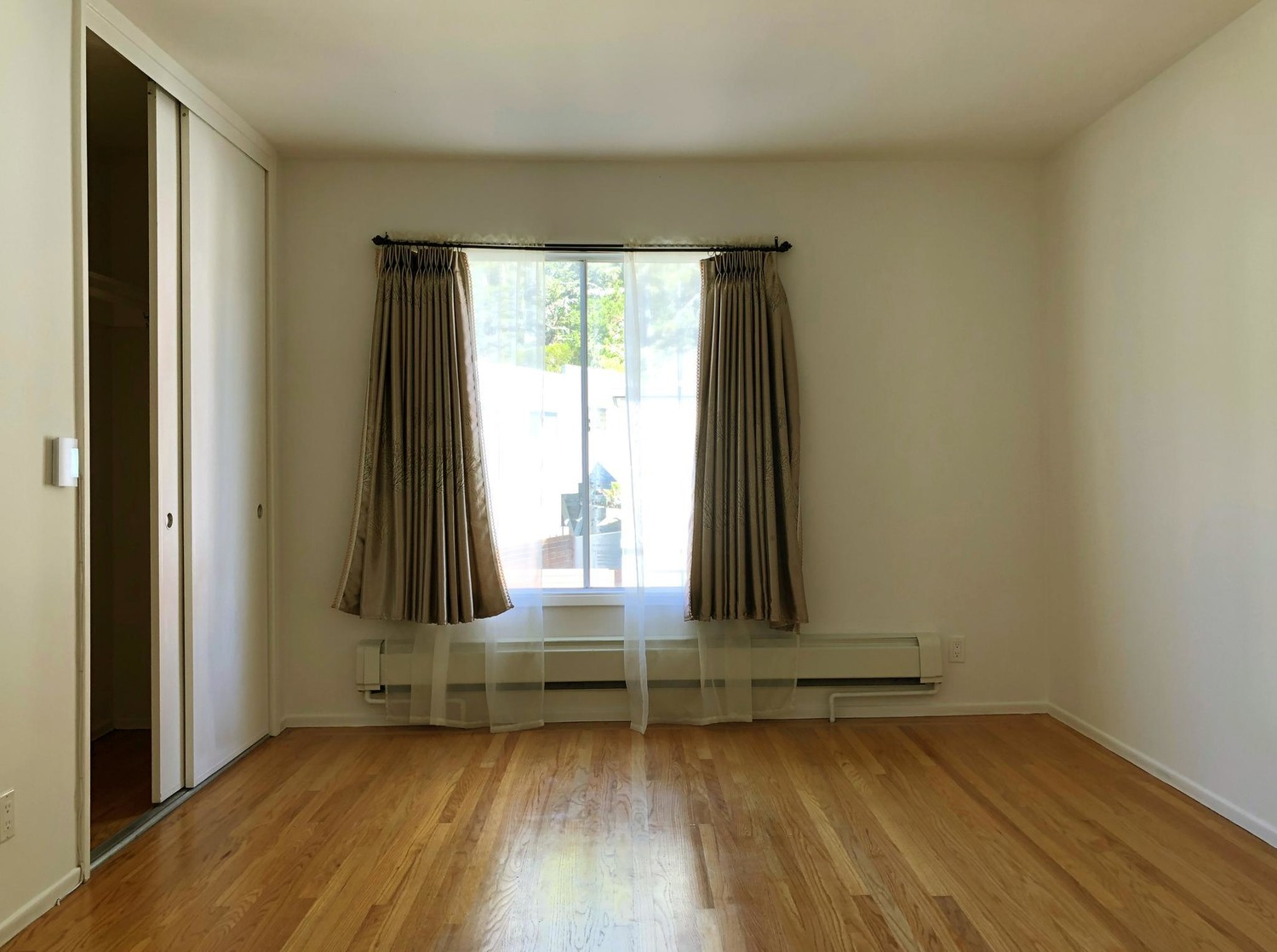 The master bedroom with a private bathroom is available for rent