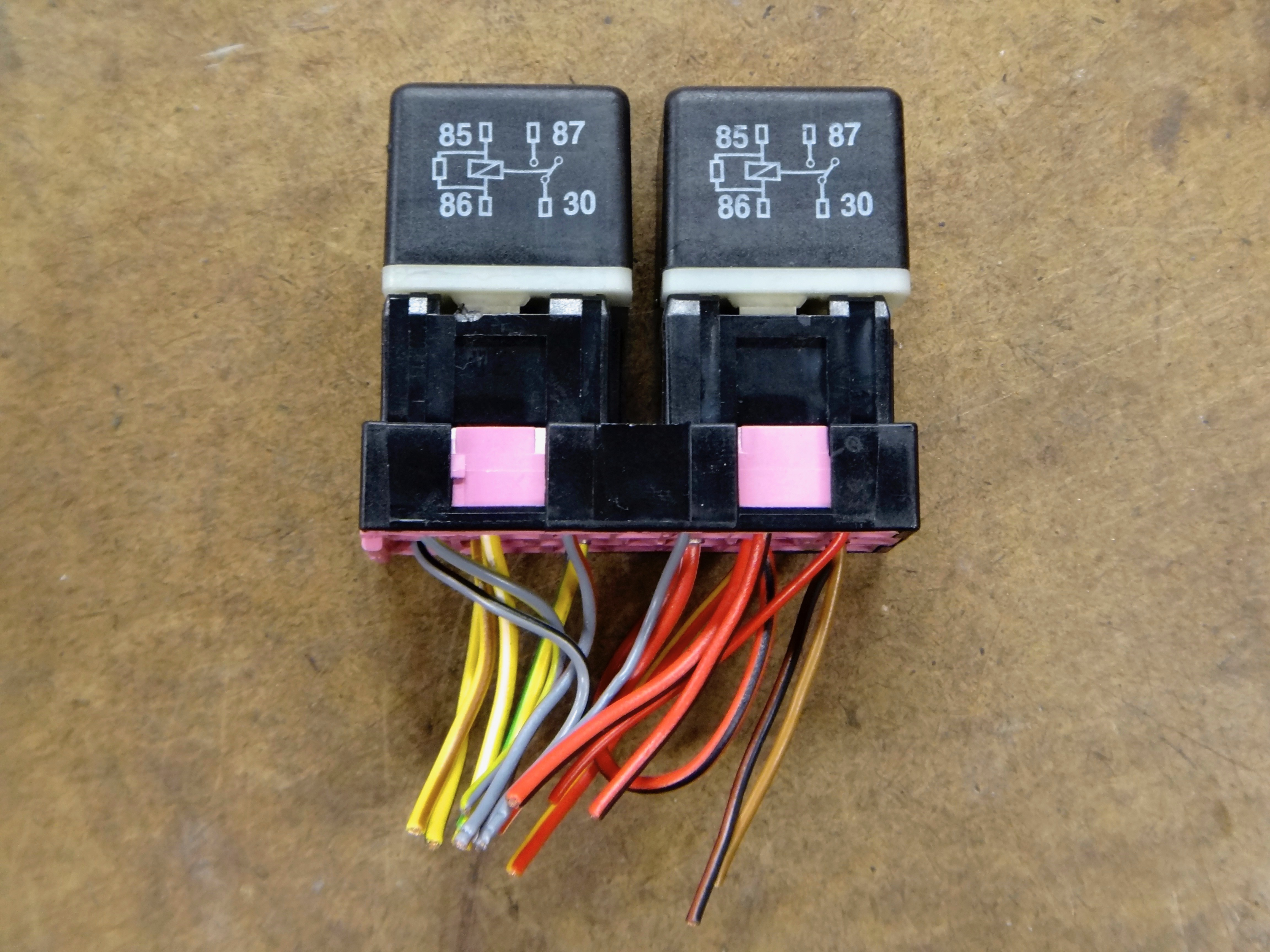 A4 B5 Diy Install Headlight Relays Wiring Relay Pins We Will Only Be Using Four Wires Per So Can Remove The Majority Of In Plug Removing A Headache